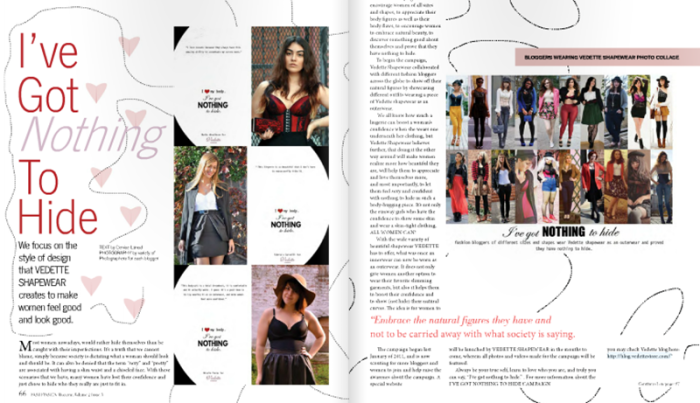 Fashionsign magazine feature